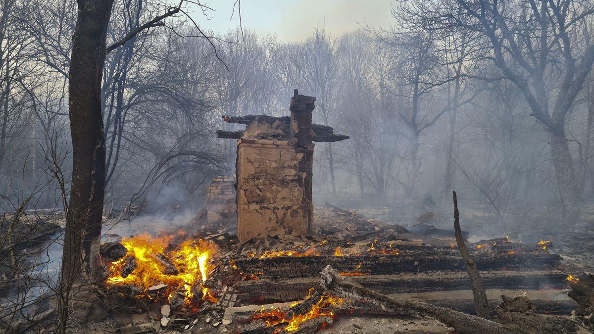 Waldbrand bei Tschernobyl.