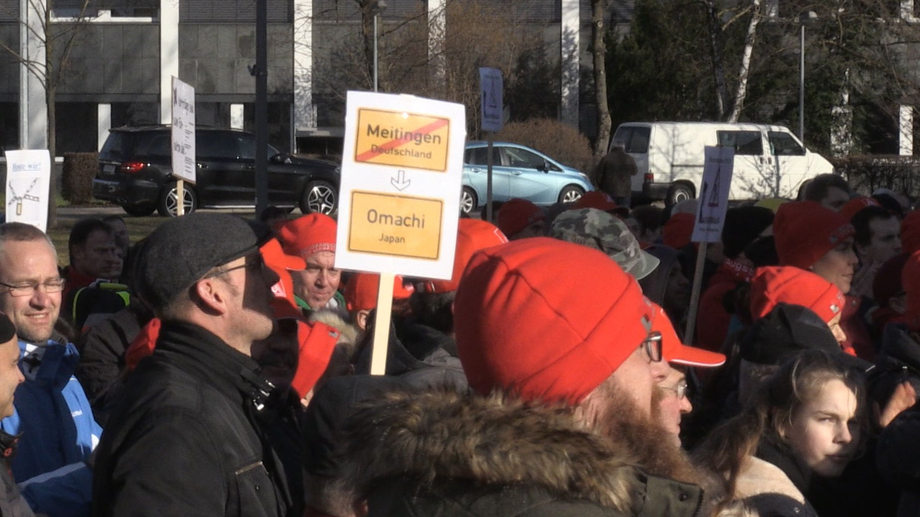 Protestkundgebung bei Showa Denko in Meitingen