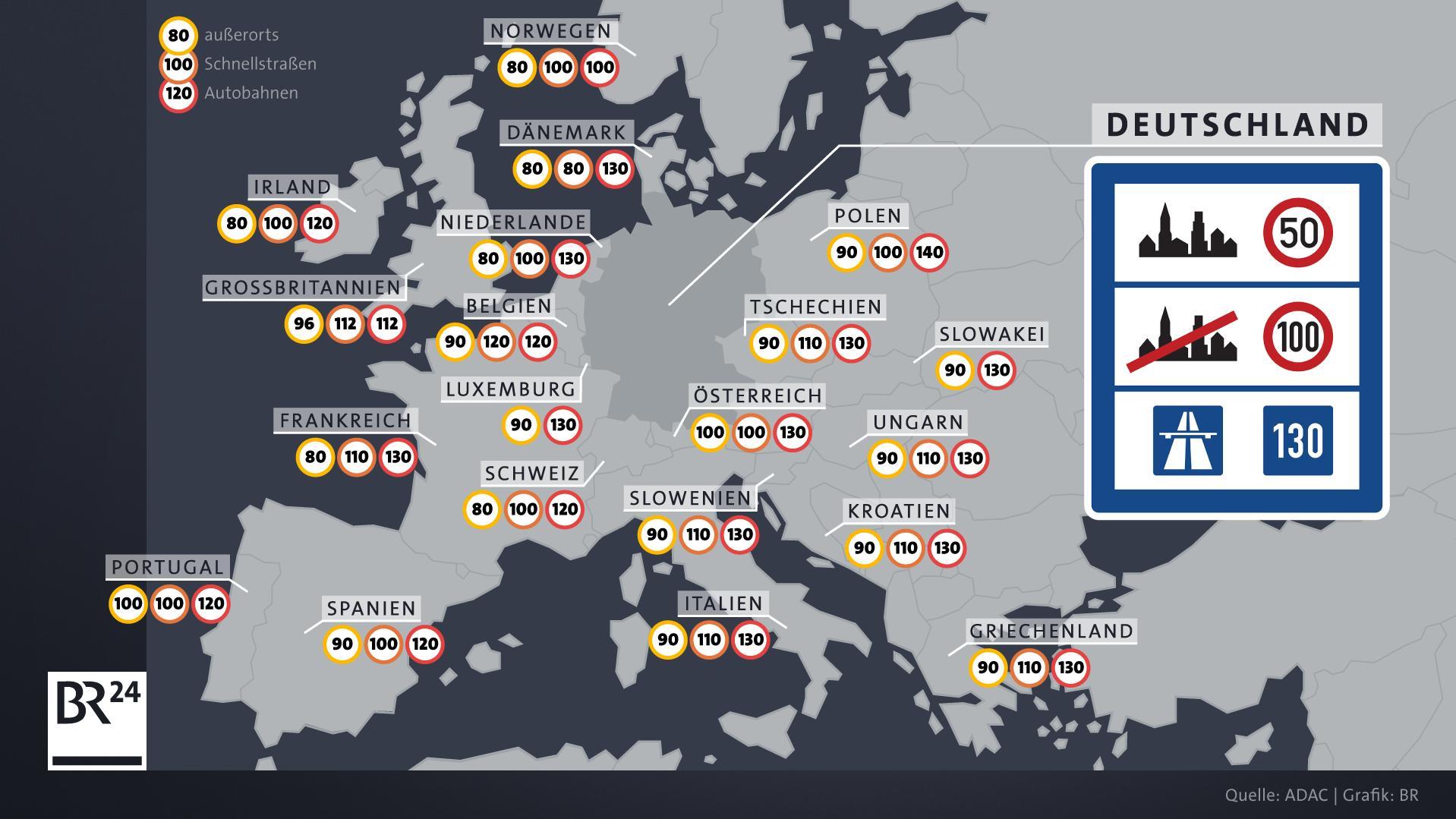 Deutschland ist das einzige Land in der EU, in dem kein Tempolimit auf Autobahnen gilt.