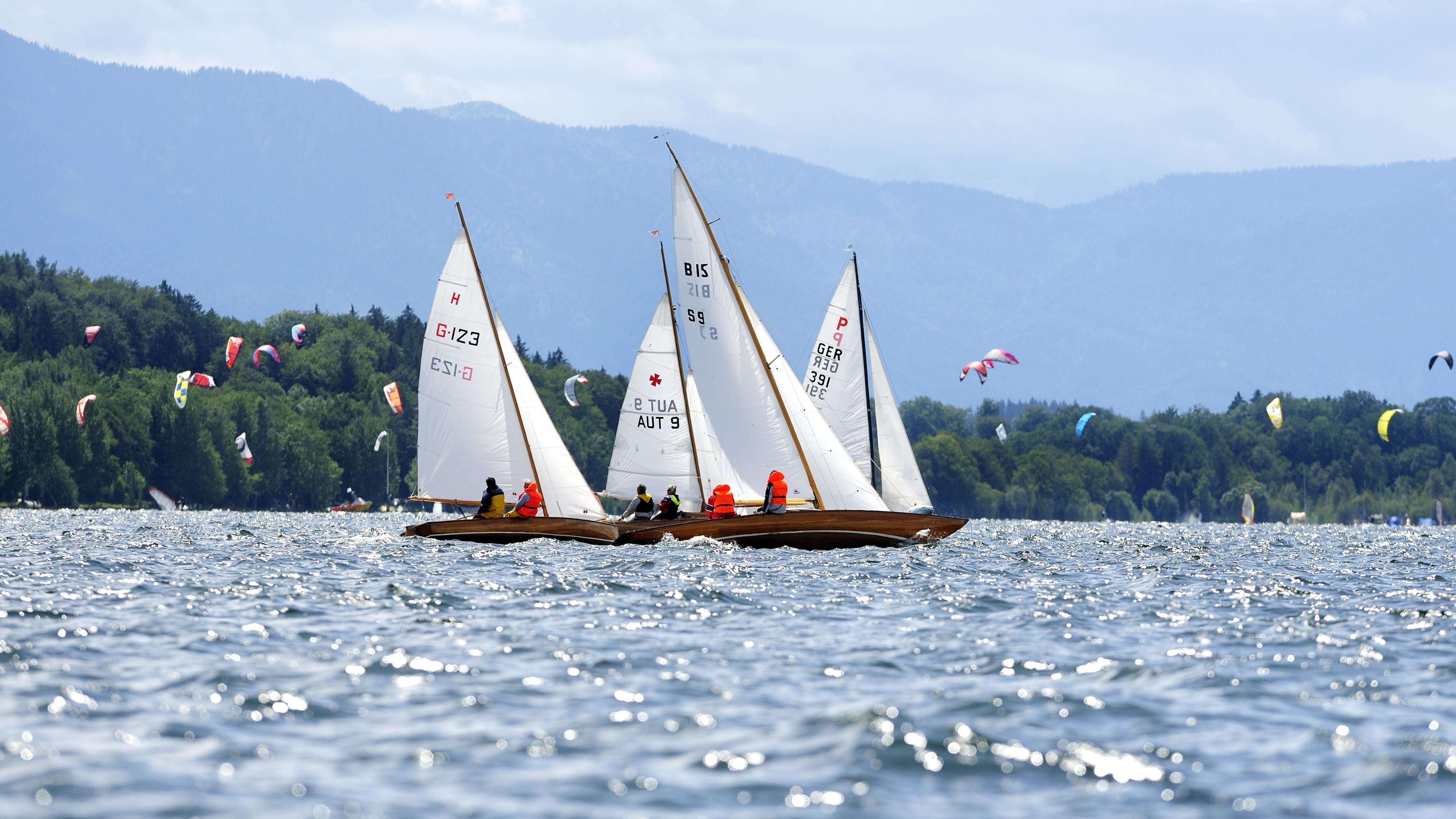 Segelyachten auf dem Starnberger See