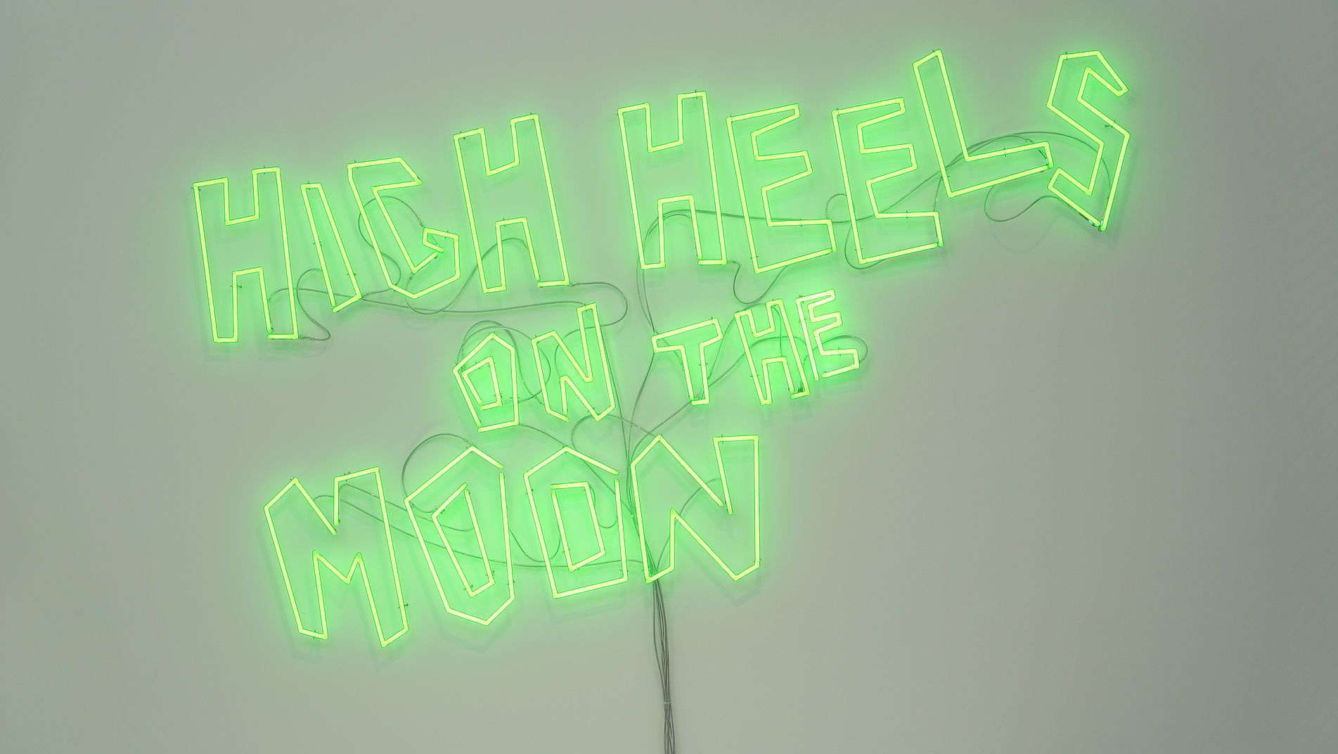"Leuchtschrift ""High Heels on the Moon"""