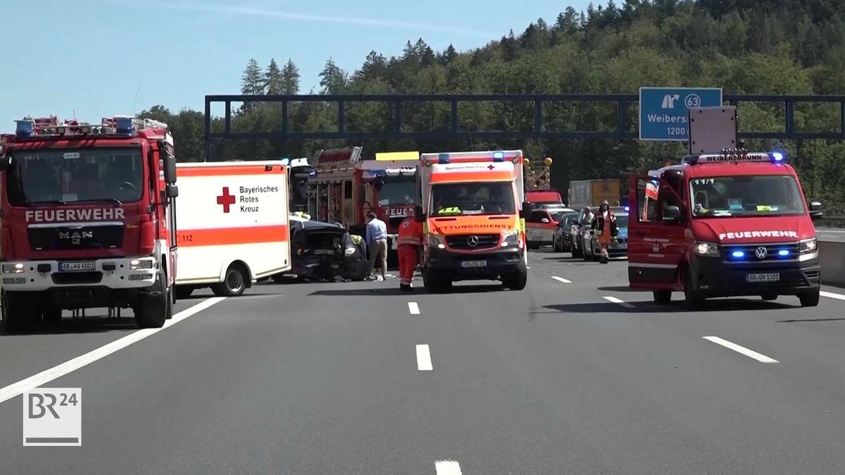 Sechs Schwerverletzte Nach Unfall Auf A3 Bei Weibersbrunn Br24
