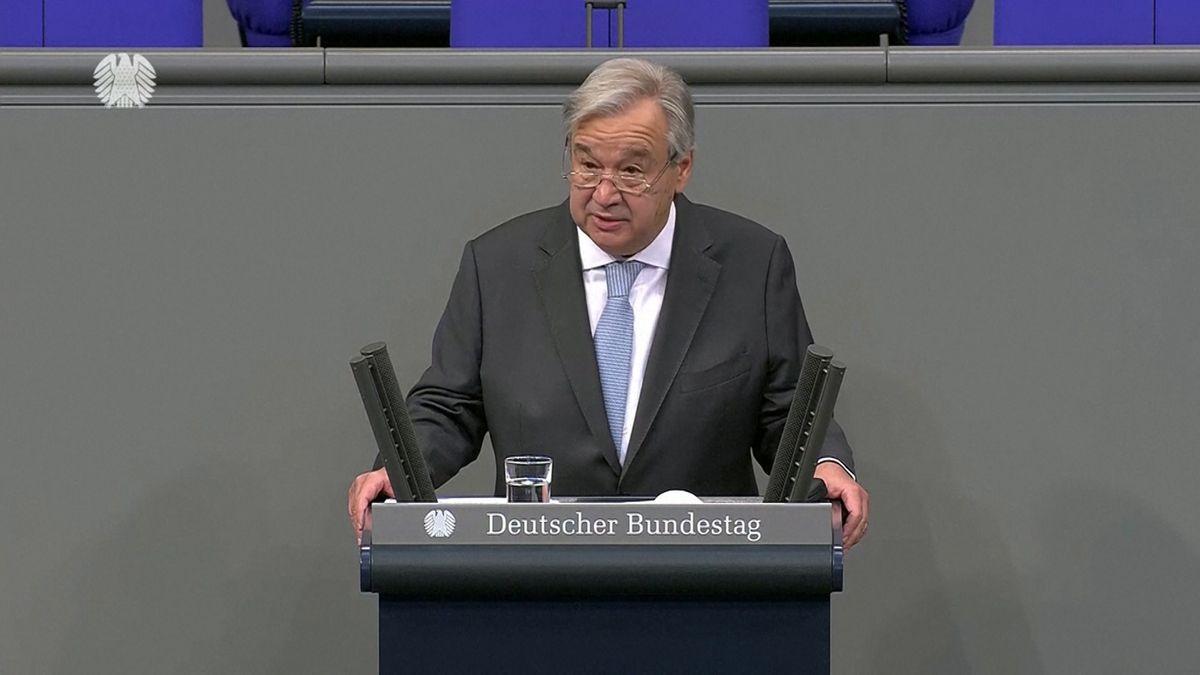 Die Einladung an ausländische Persönlichkeiten, vor dem Bundestag zu  sprechen ist selten. UN Generalsekretär Antonio Guterres nutzte sie für  eine Rede voller Sympathie für Deutschland.