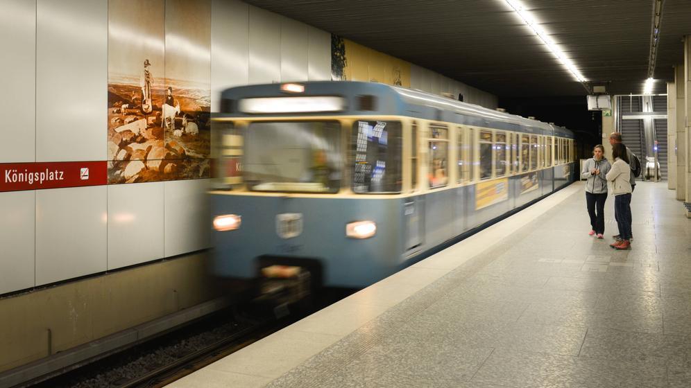 Münchner U-Bahn am Königsplatz | Bild:dpa/picture-alliance