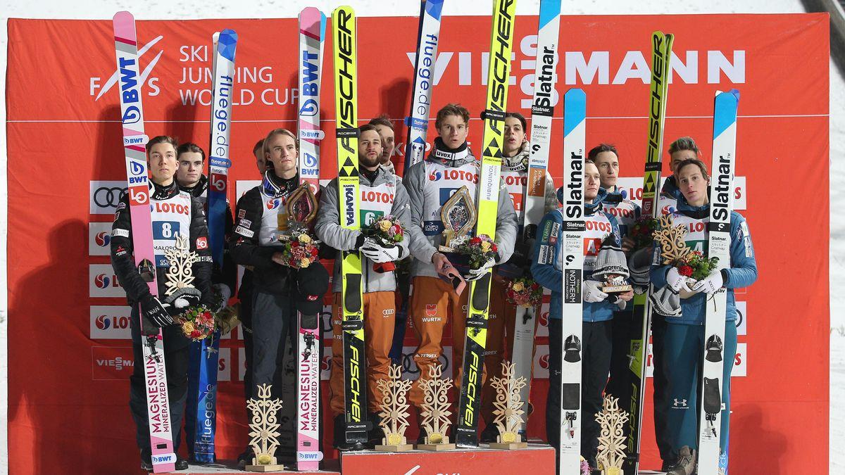 Souveräner Mannschaftssieg der deutschen Skispringer