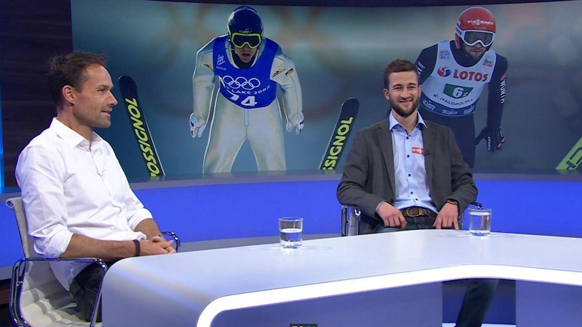 Sven Hannawald und Markus Eisenbichler in Blickpunkt Sport