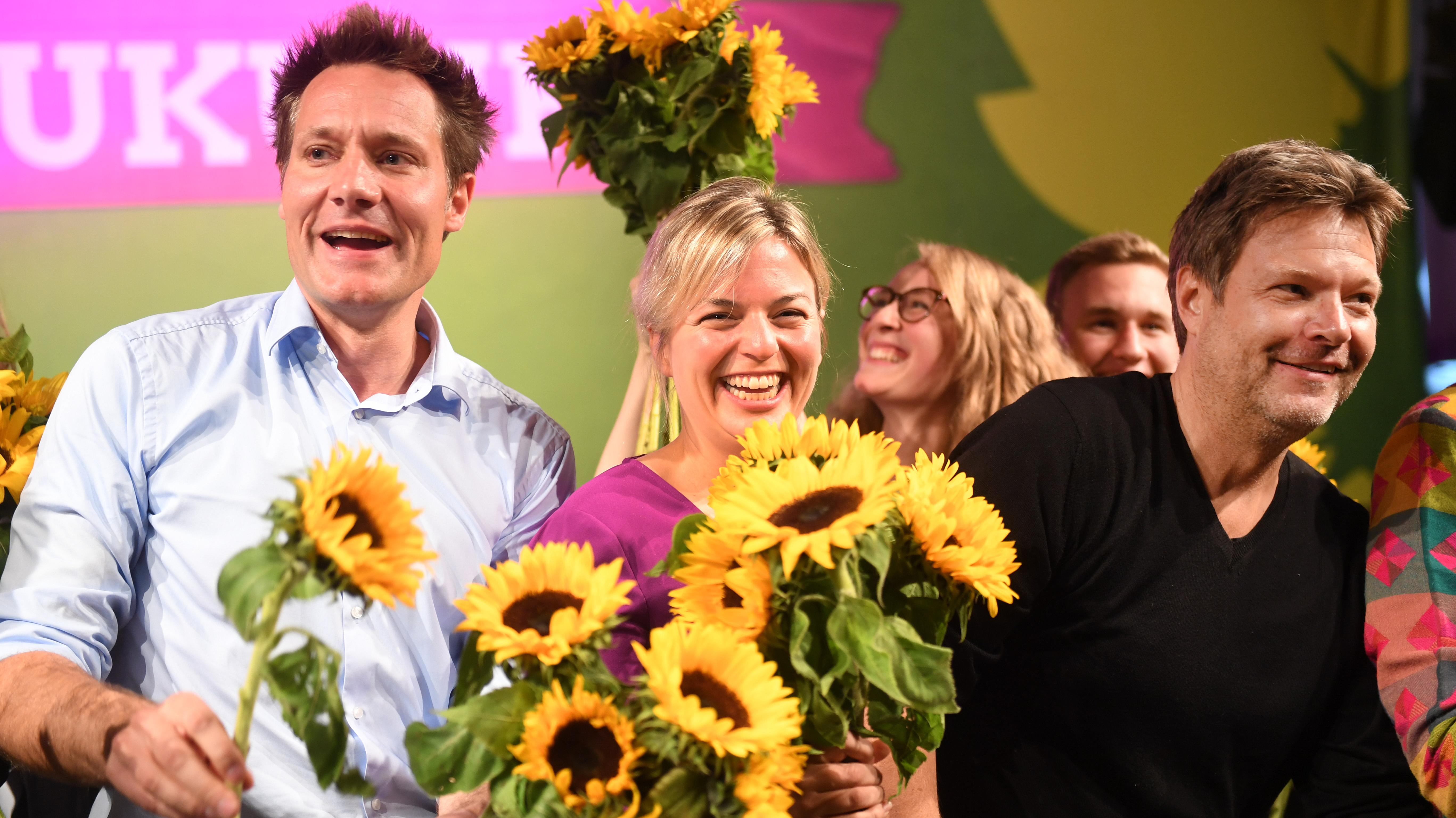 Grünen-Politiker Katharina Schulze, Ludwig Hartmann und Robert Habeck