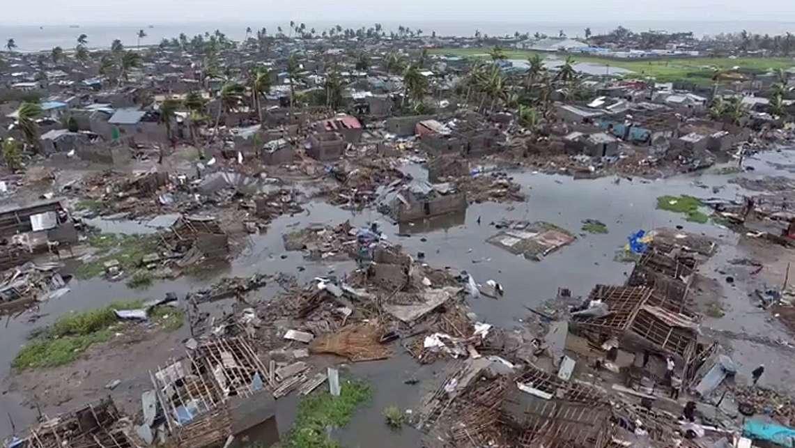 Schäden durch Zyklon in Südostafrika