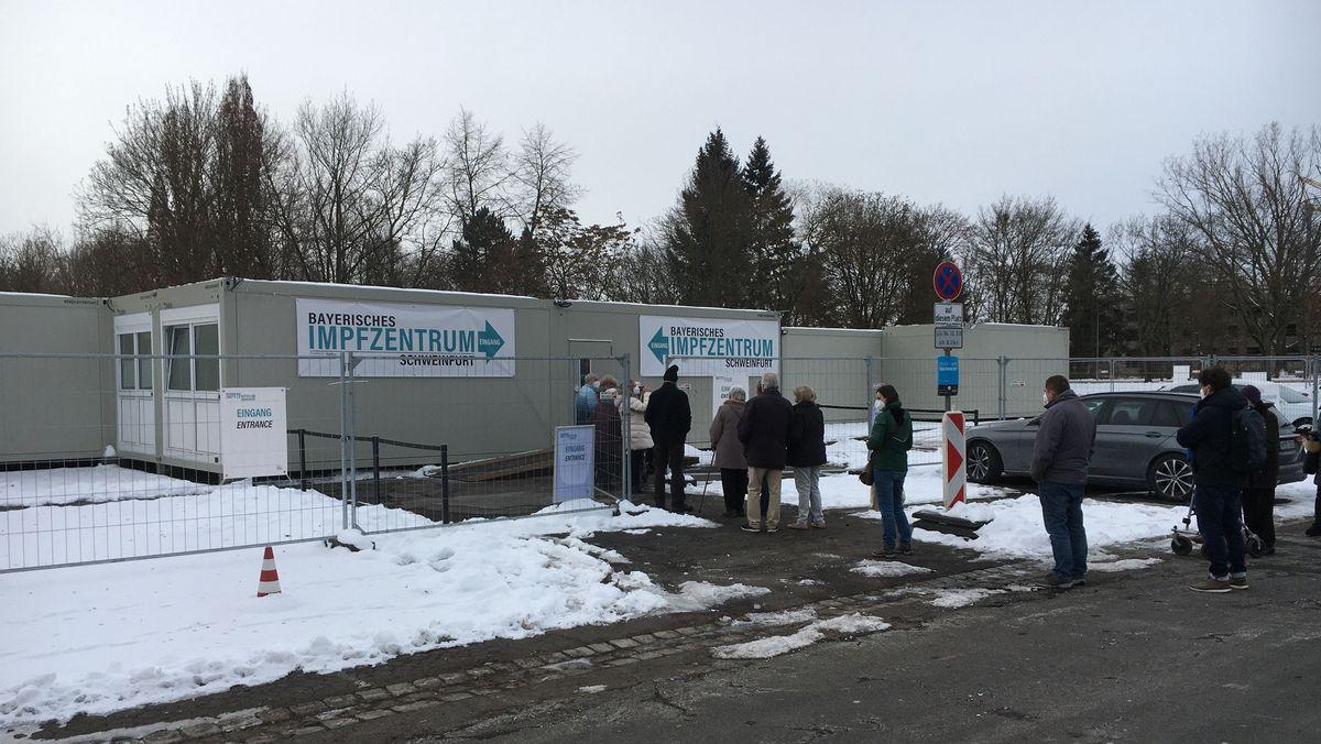 Das Impfzentrum in Schweinfurt