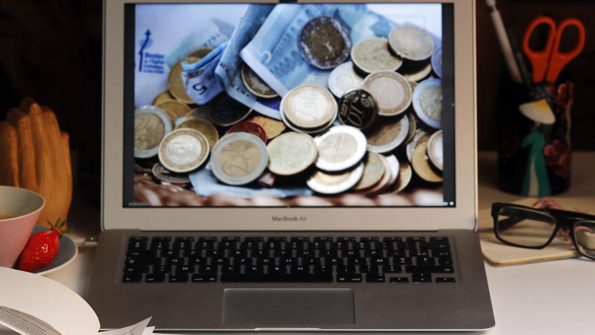 Euros auf Computer-Bildschirm