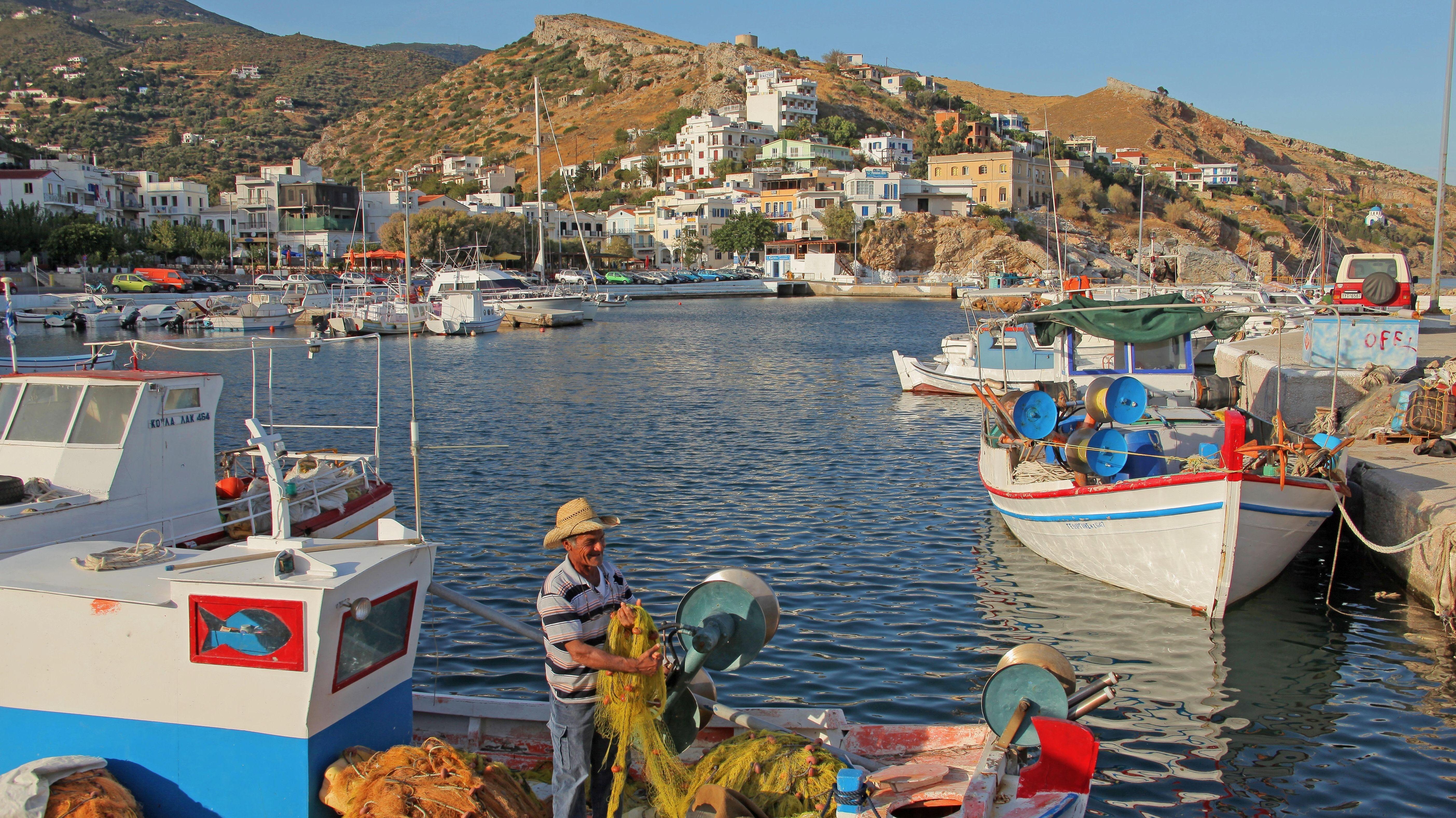 Die Ortschaft Agios Kirykos auf Ikaria