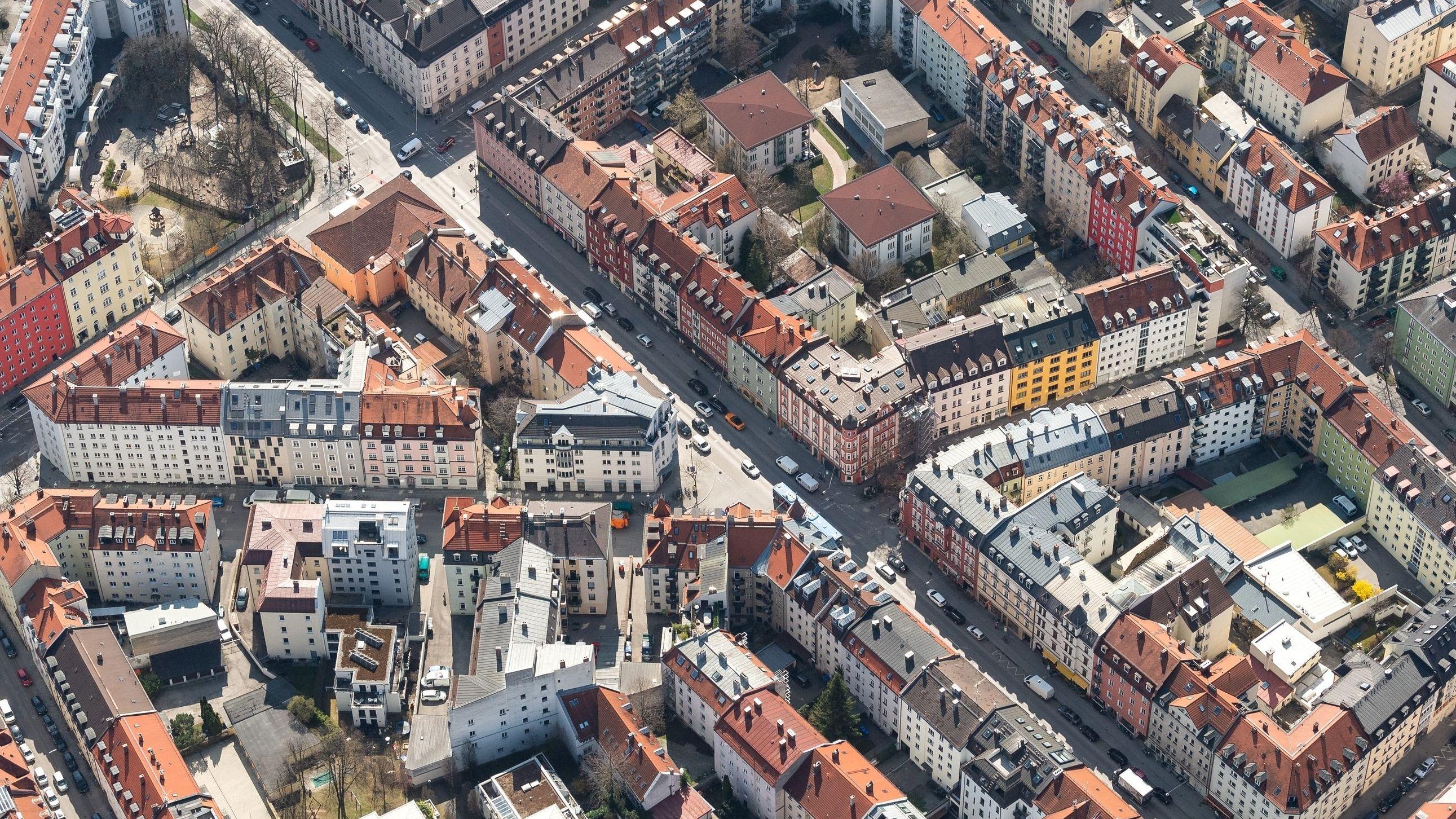 Wohnhäuser in der Münchner Innenstadt
