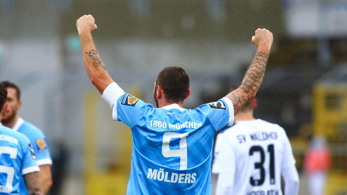 Torjubel Sascha Mölders vom TSV 1860 München
