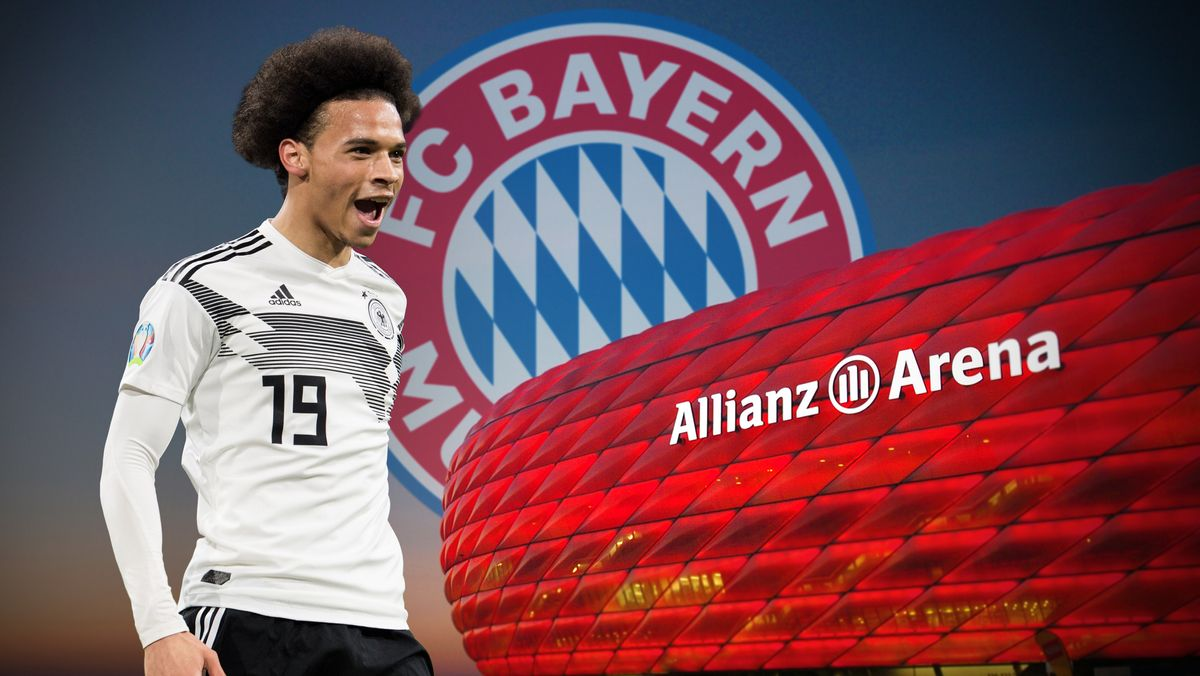 Leroy Sané, FC-Bayern-Wappen, Allianz Arena