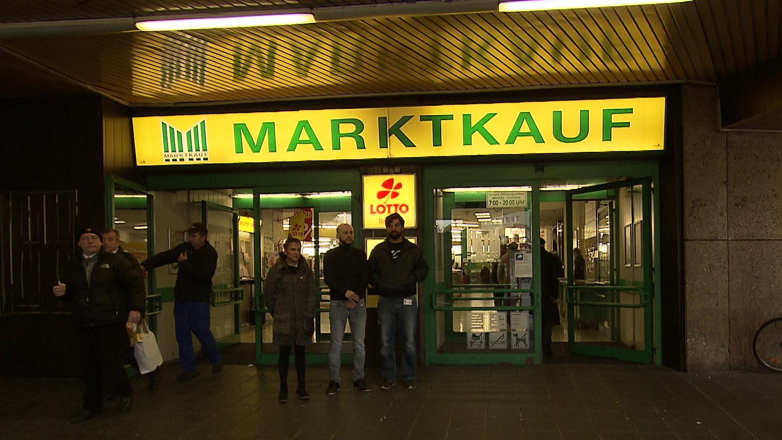 Der Eingang des Nürnberger Marktkaufs