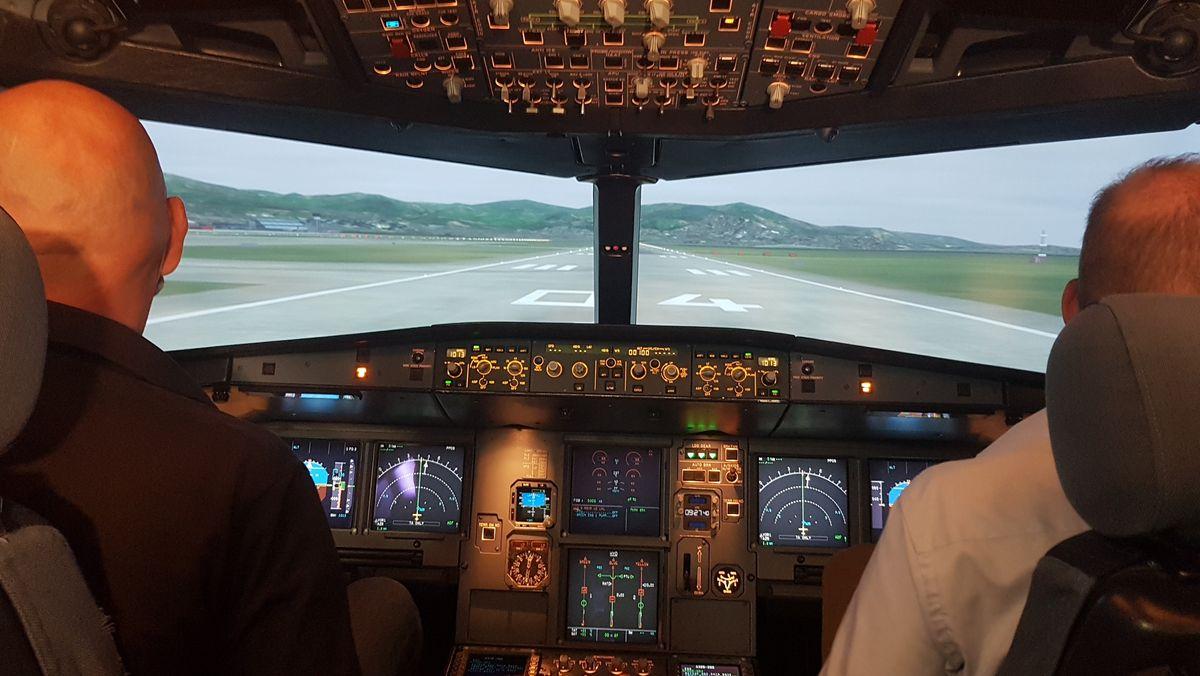 Täuschend echt: Flug im Simulator
