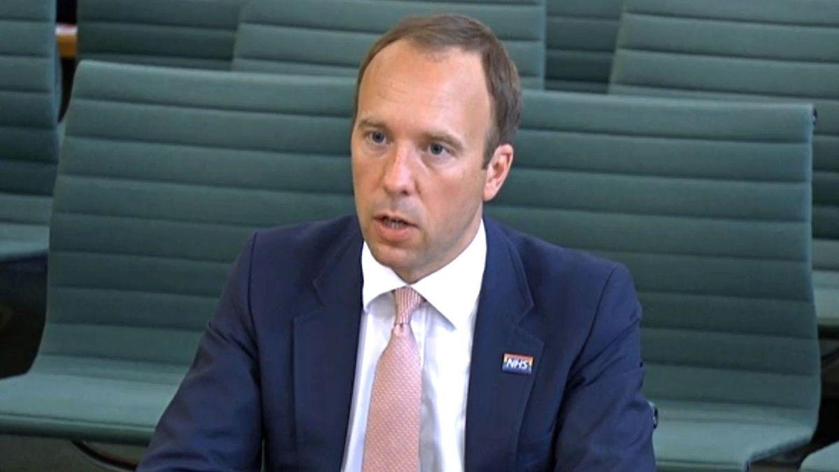 Der ehemalige britische Gesundheitsminister Matt Hancock.