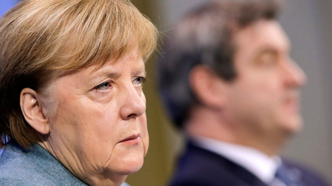 Merkel und Söder beim Impfgipfel