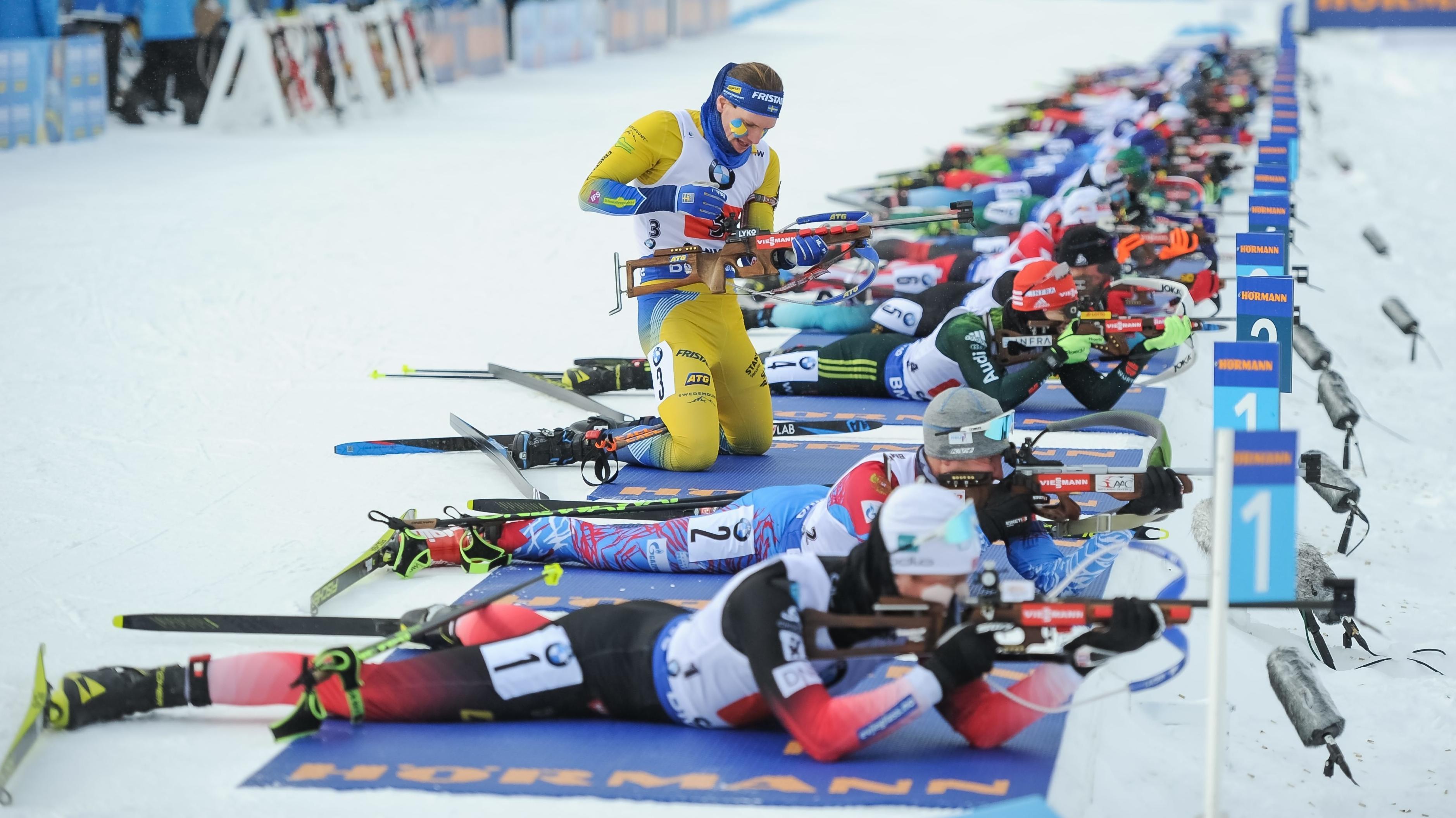 Biathlon-Weltcup in Canmore, Frauen am Schießstand