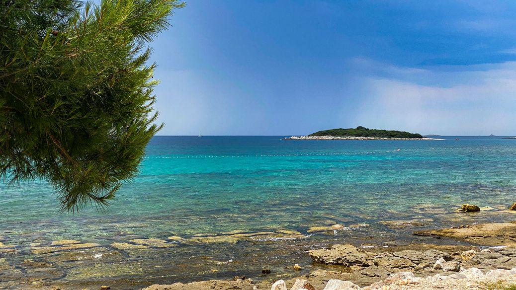 Kroatische Küste an der Westseite Istriens