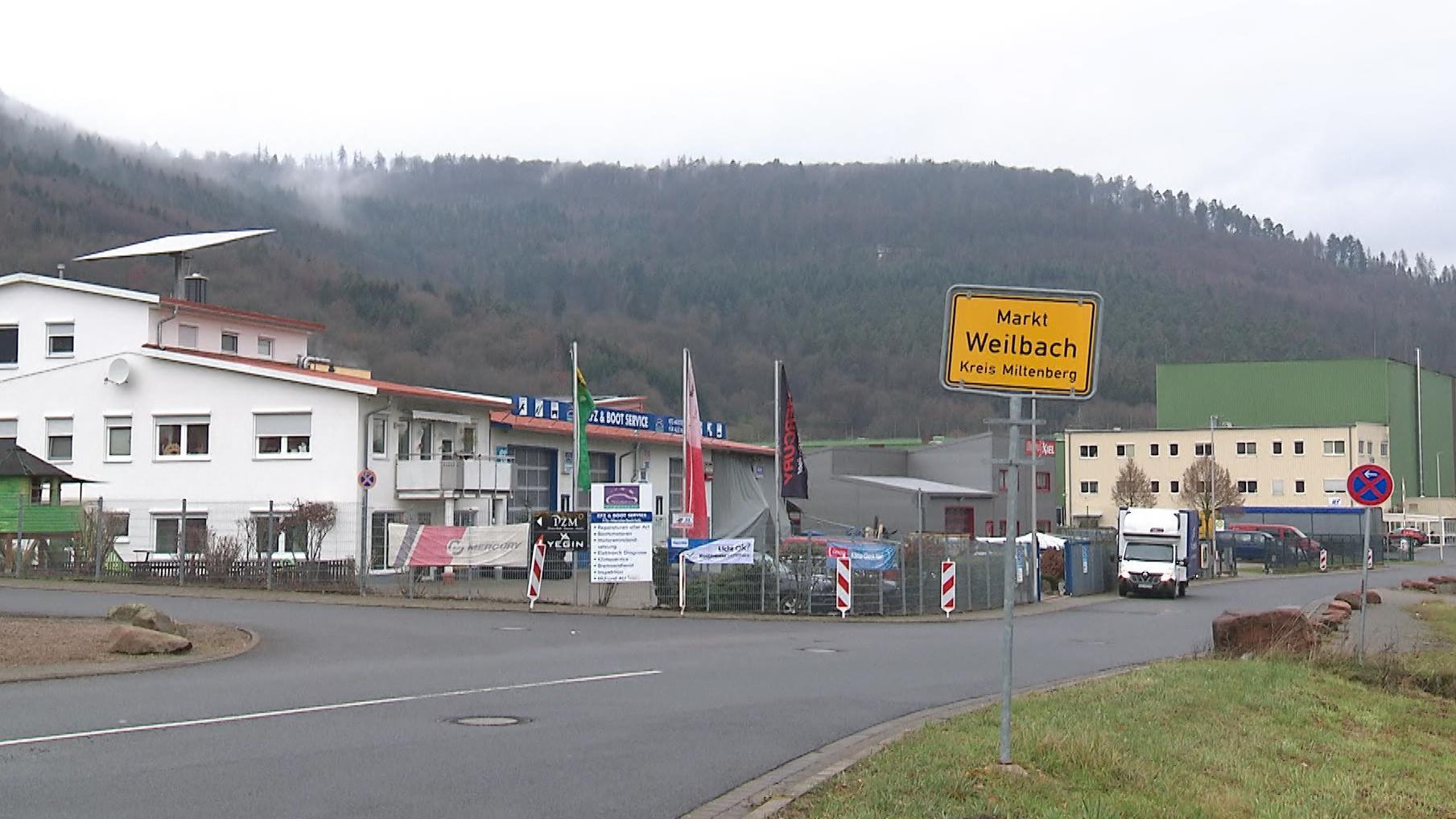 Ortsschild Markt Weilbach