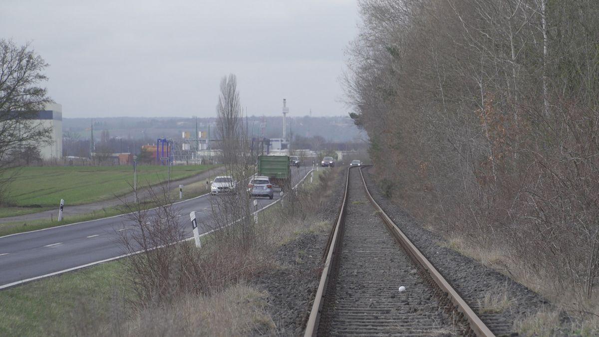 Die stillgelegte Trasse der Steigerwaldbahn zwischen Kitzingen und Großlangheim
