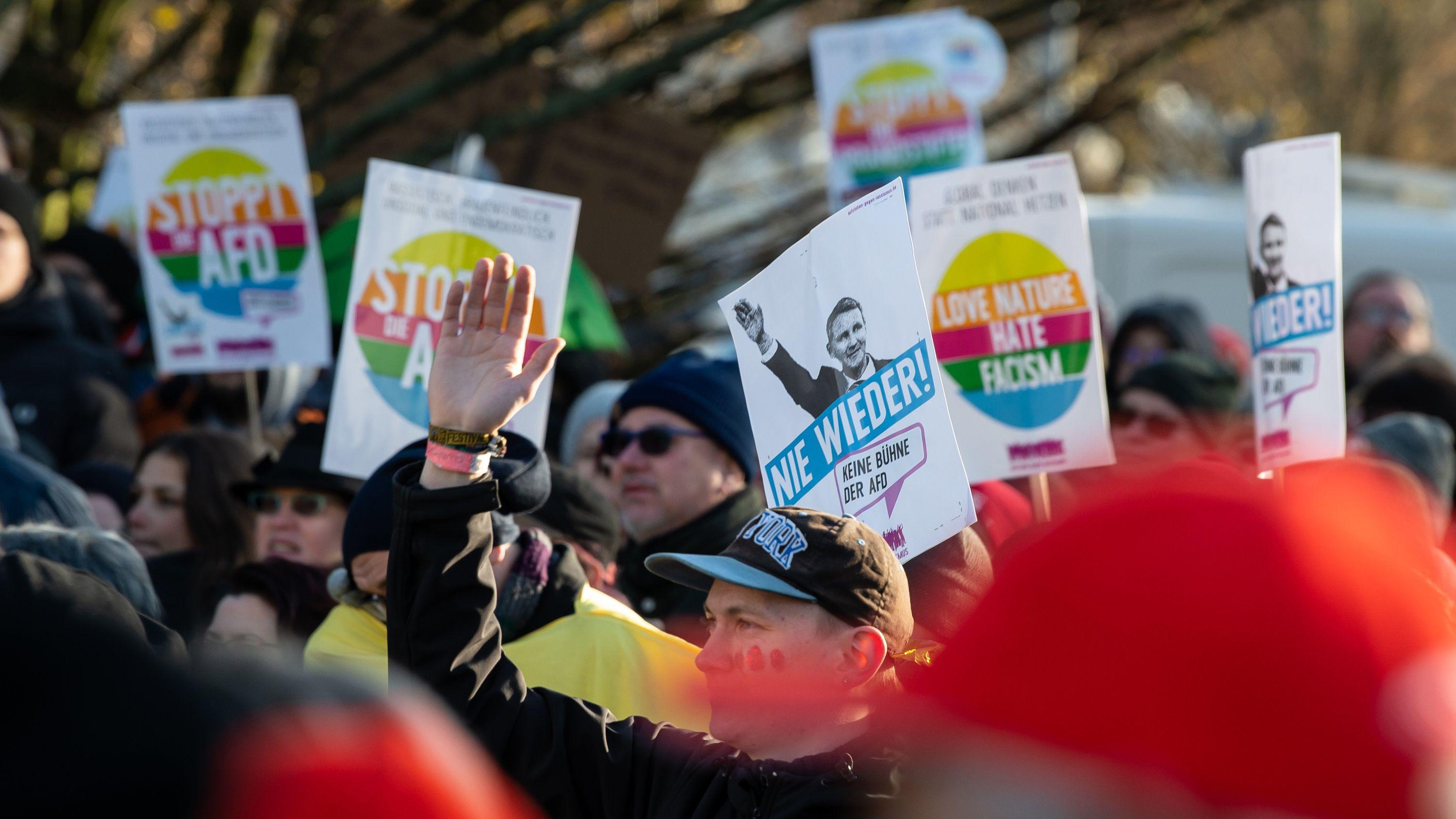 Proteste gegen AfD in Braunschweig