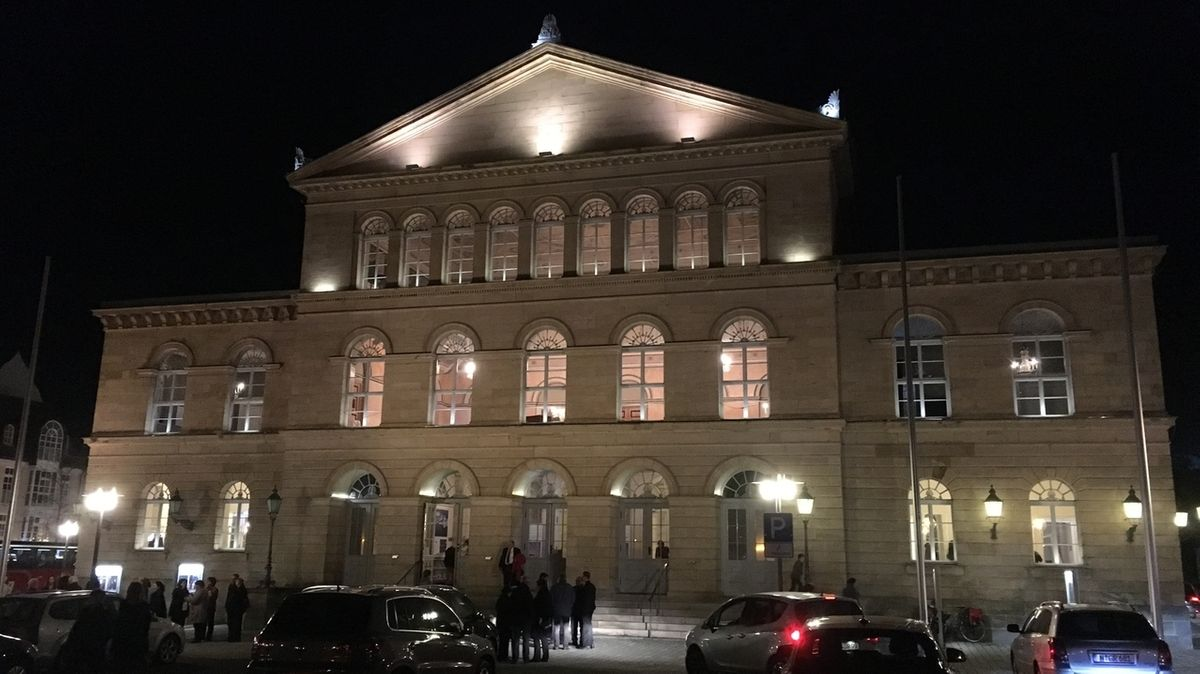 Das Landestheater Coburg.