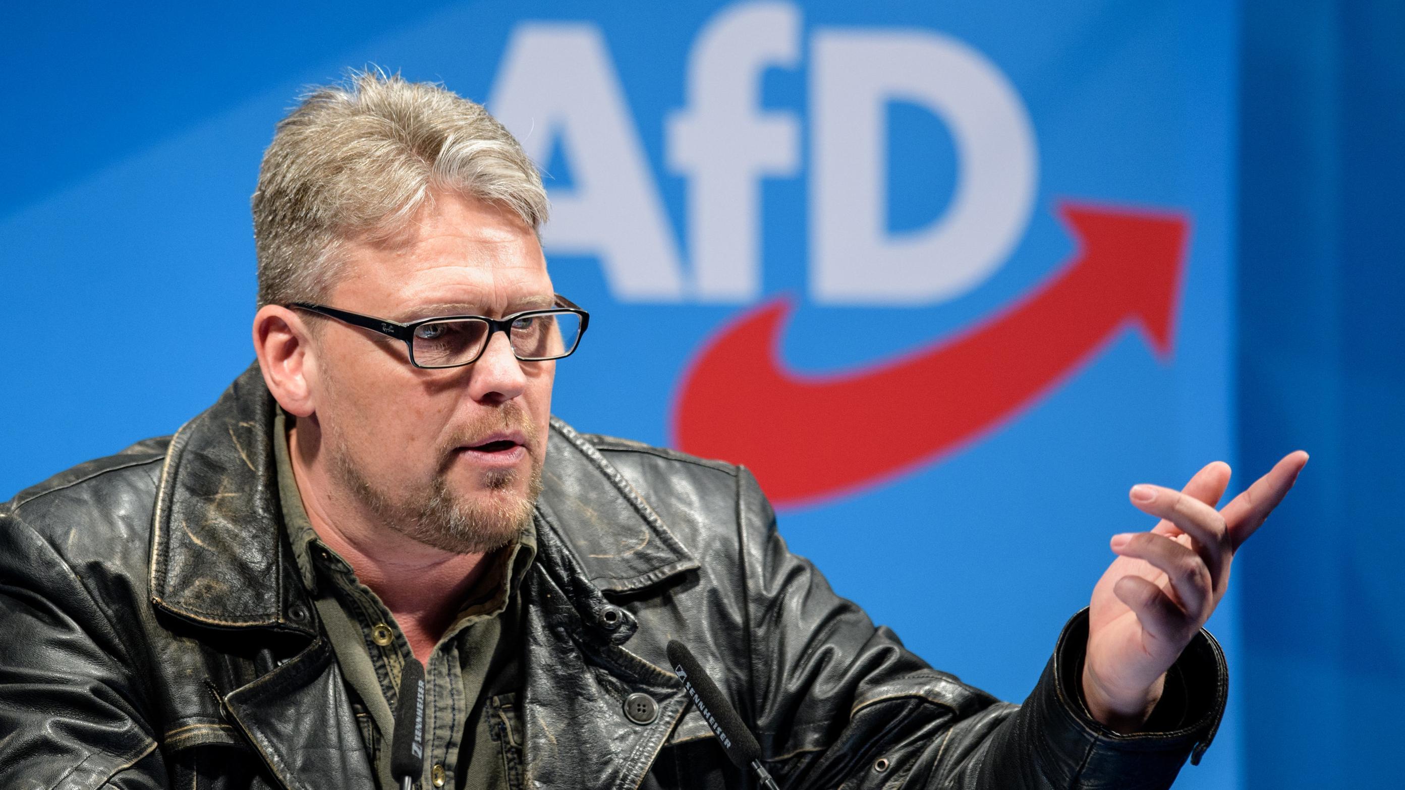 AfD-Politiker Guido Reil beim Politischen Aschermittwoch seiner Partei