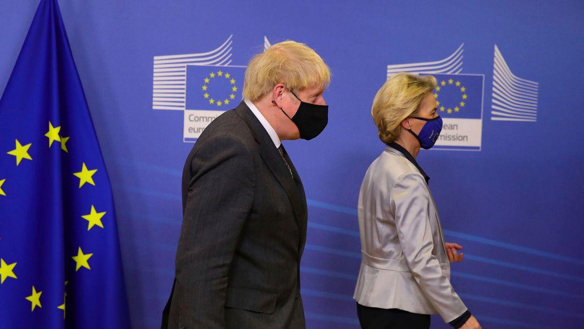 Ursula von der Leyen und Premiere Boris Johnson in Brüssel