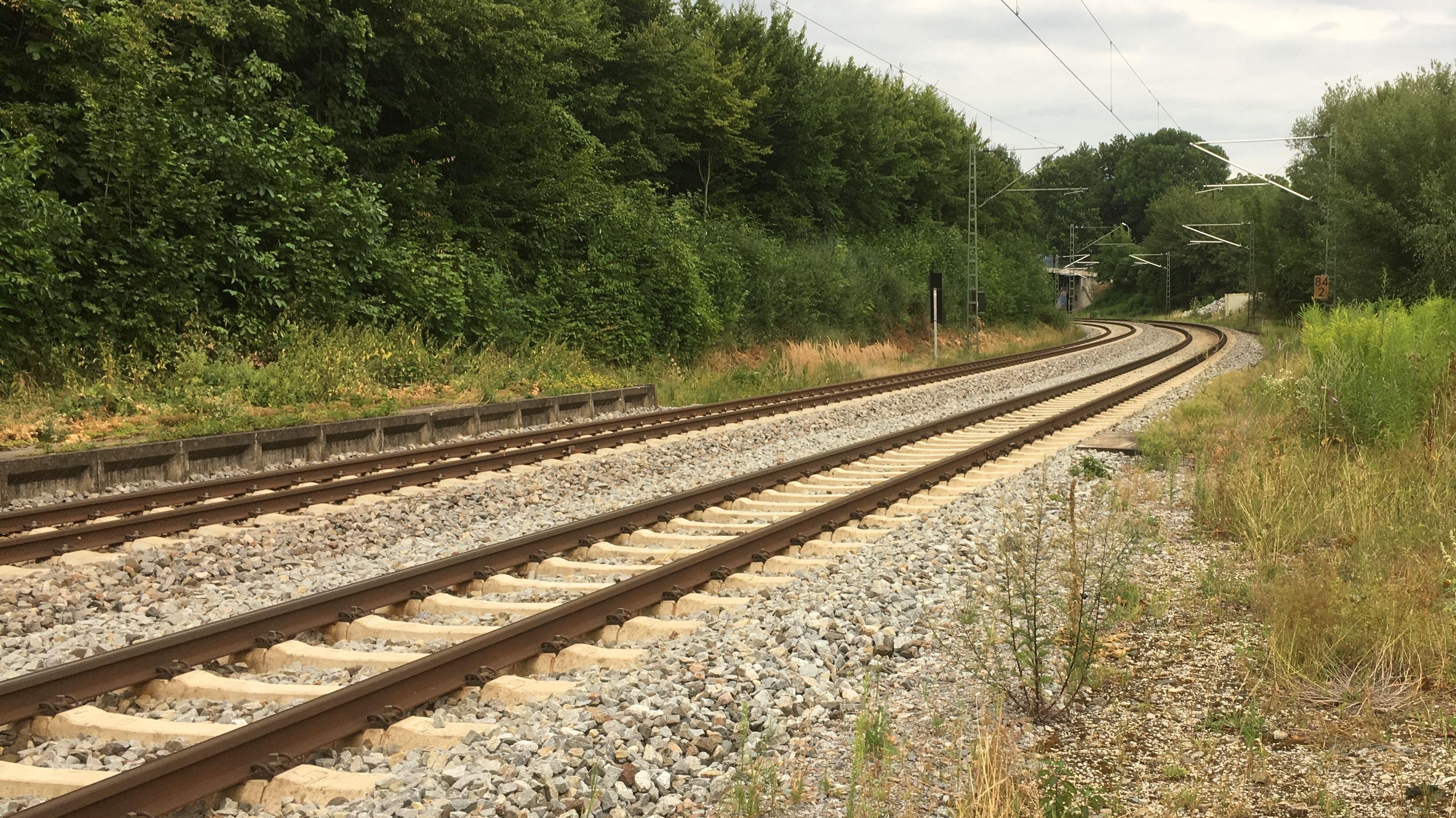 Die Bahnstrecke Landshut-Regensburg musste bei Mirskofen für mehrere Stunden gesperrt werden.