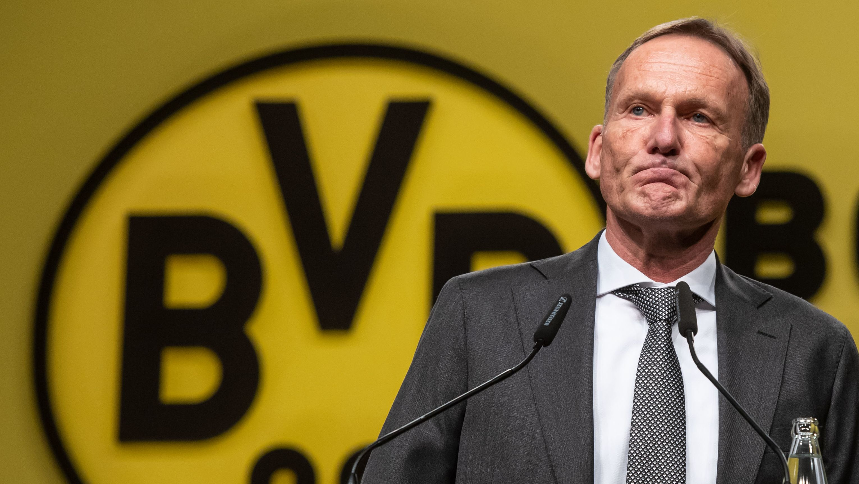 BVB-Geschäftsführer Hans-Joachim Watzke bei der Mitgliederversammlung von Borussia Dortmund