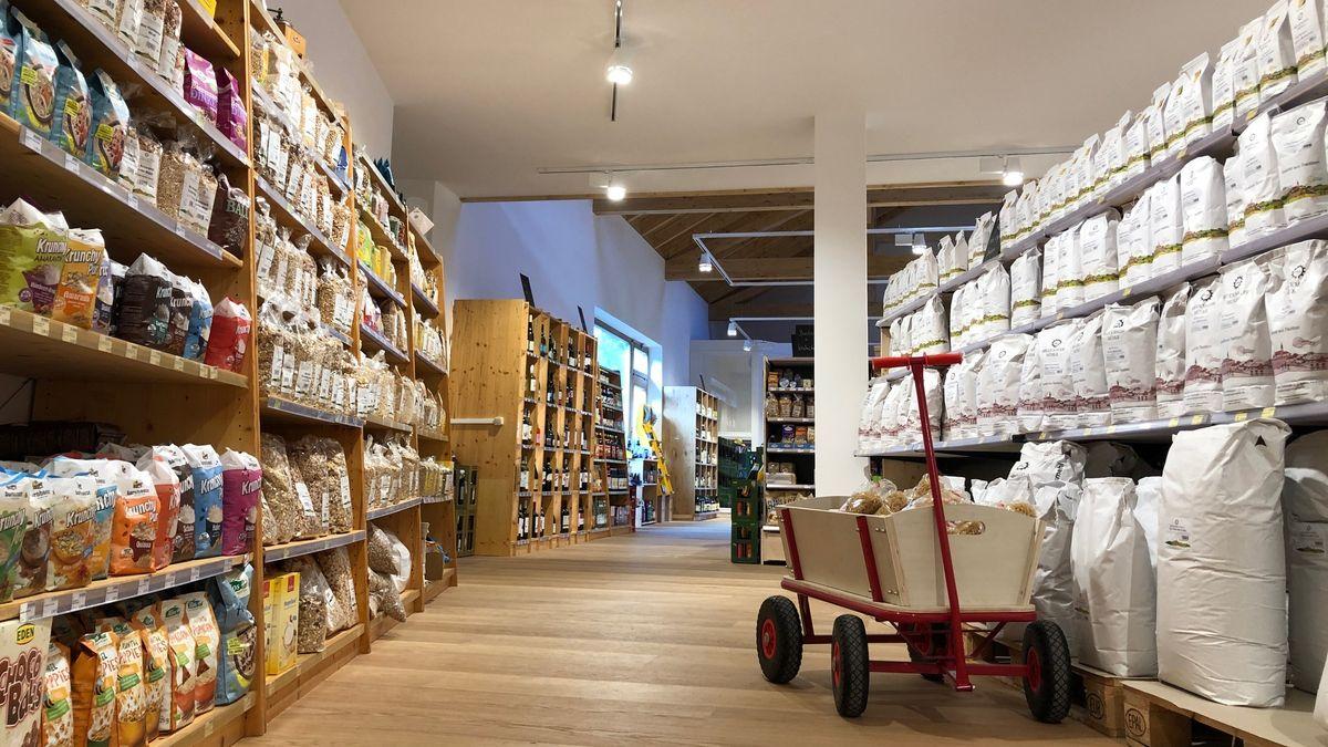 Der neue Laden der Bruckmayer Mühle.