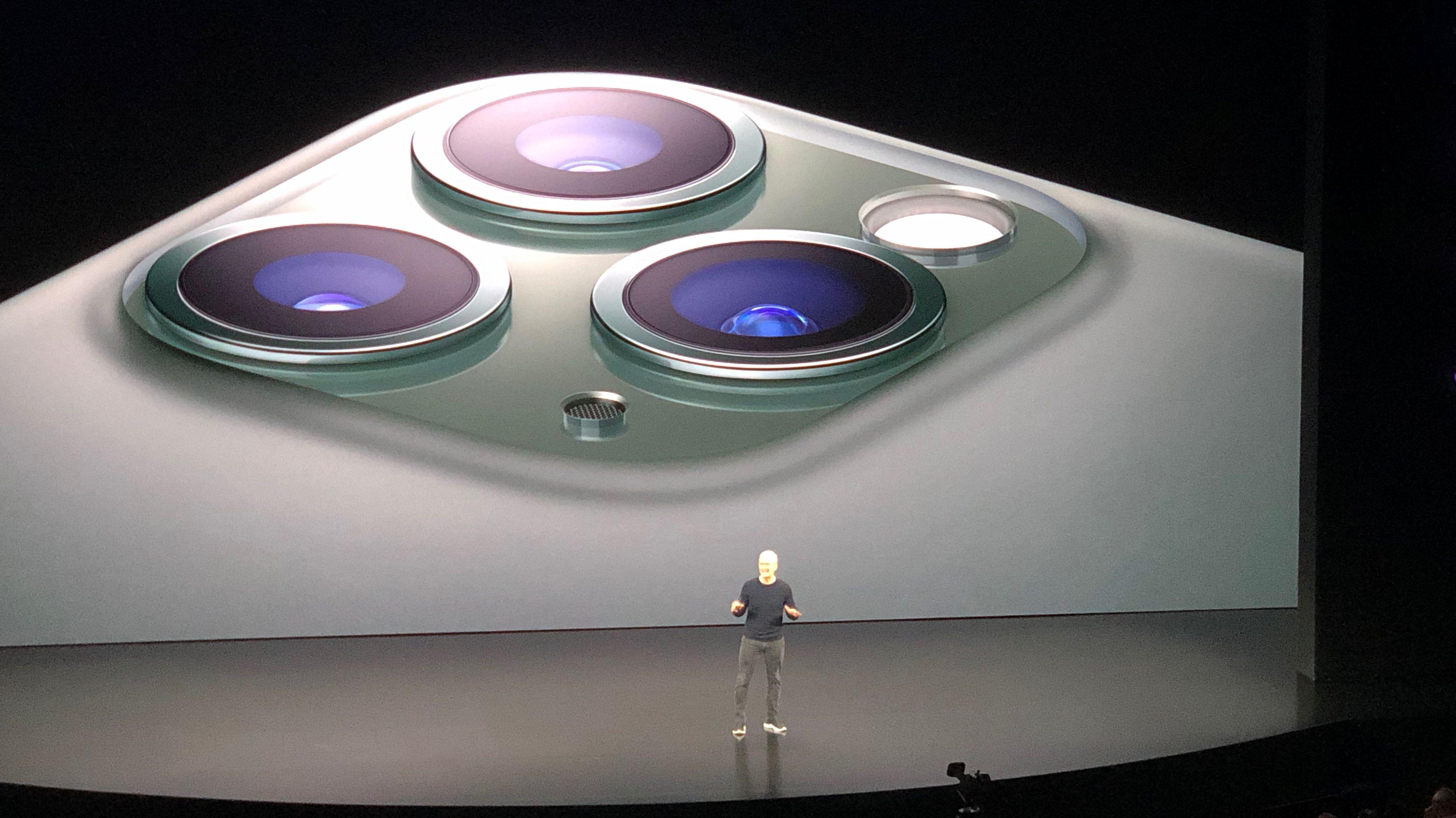 Das 3-Kamera-System des iPhone 11.
