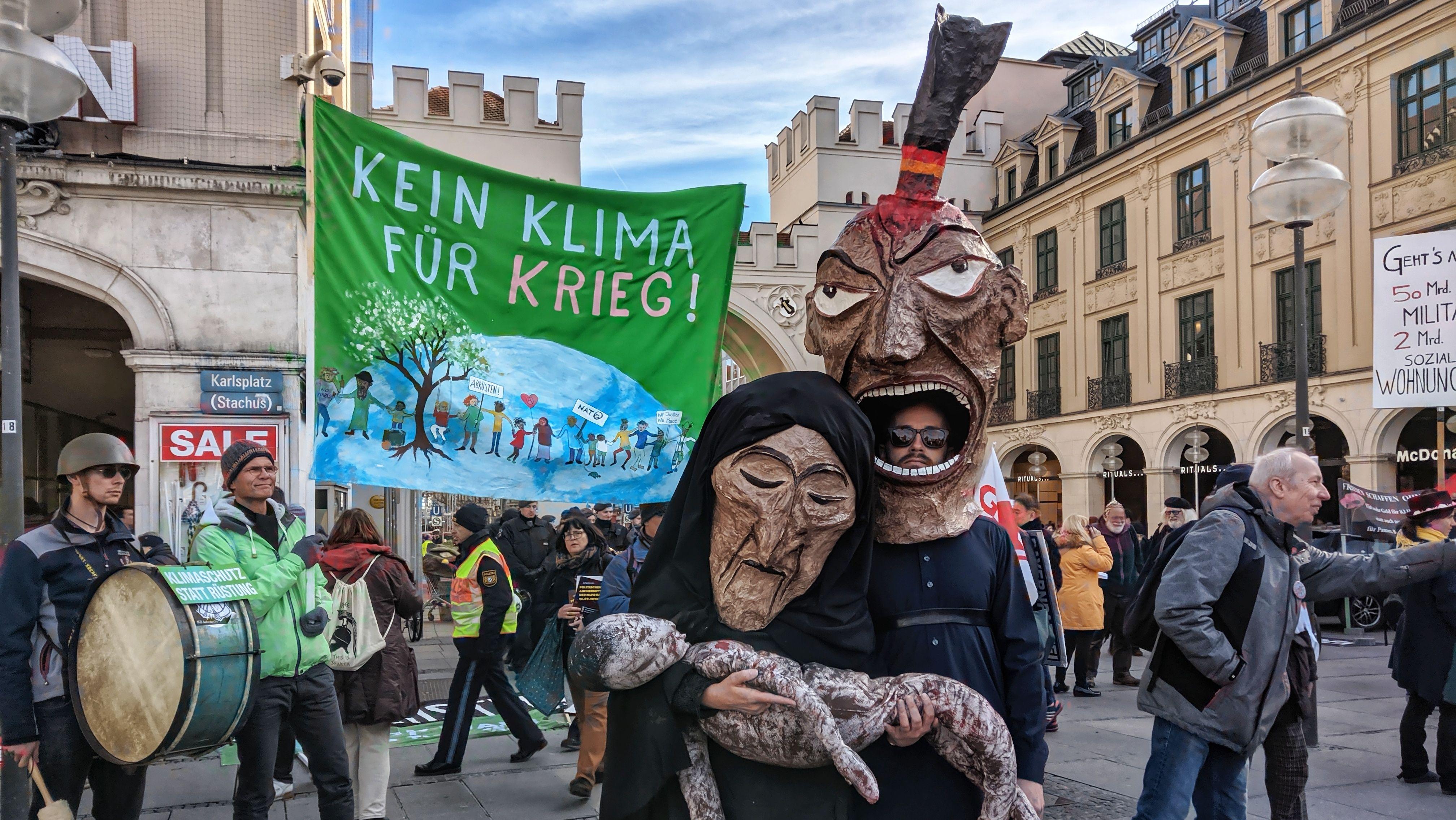 Zentrale Demonstration gegen die Münchner Sicherheitskonferenz