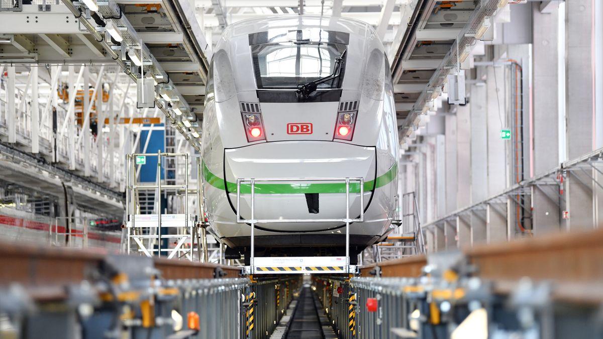 ICE-Werk der Deutschen Bahn