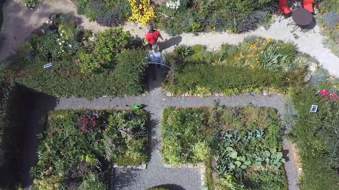 Ein Blick in den Garten der Gahns in Ackermannshof / Gefrees