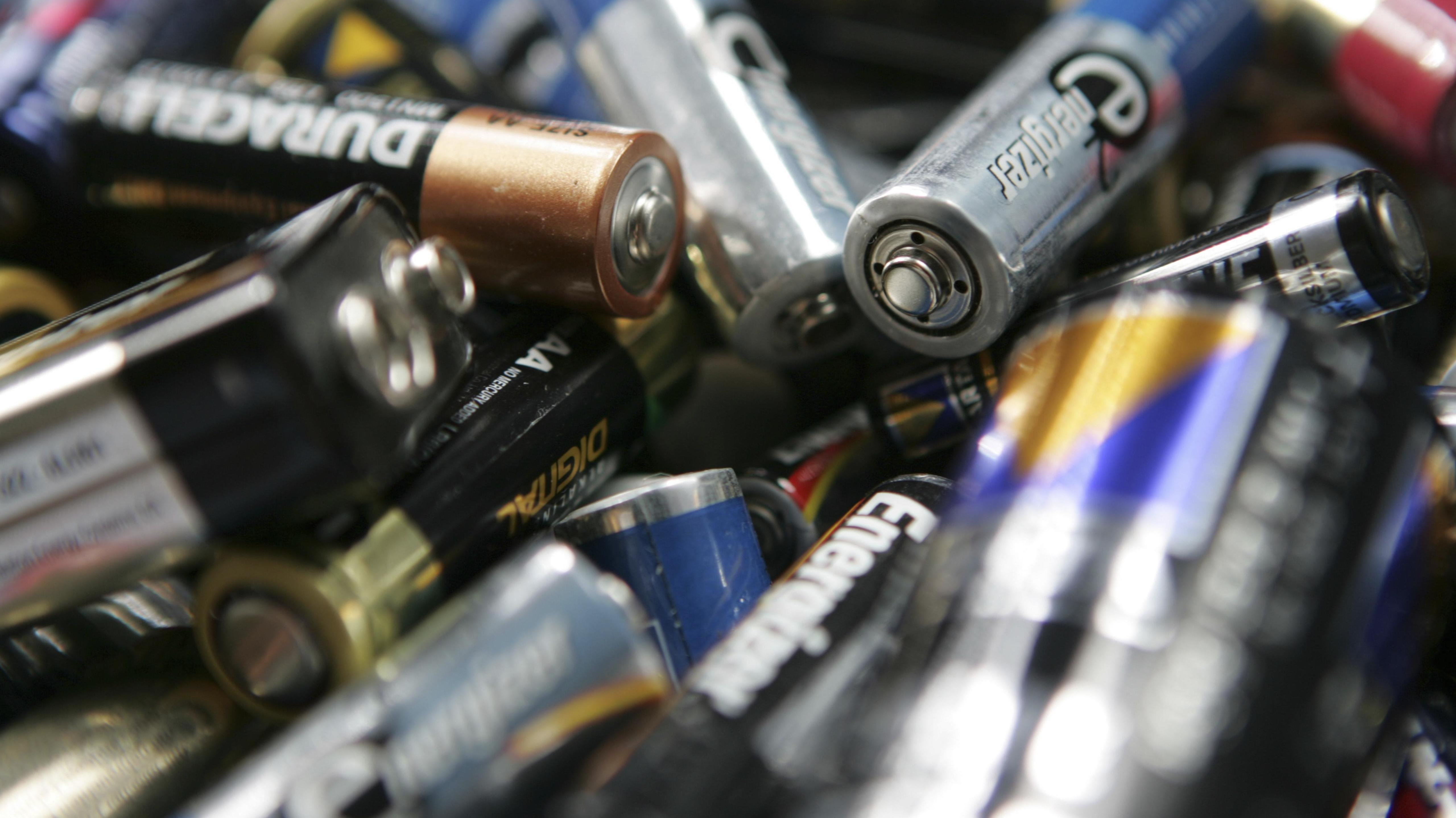 Entsorgte Batterien
