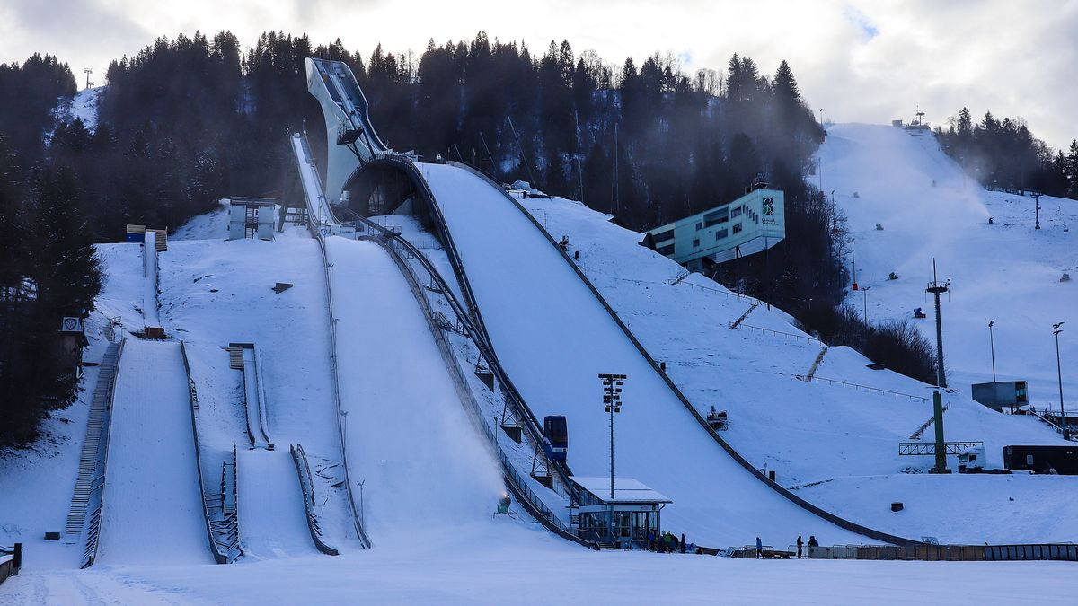 Die Olympiaschanze in Garmisch-Partenkirchen