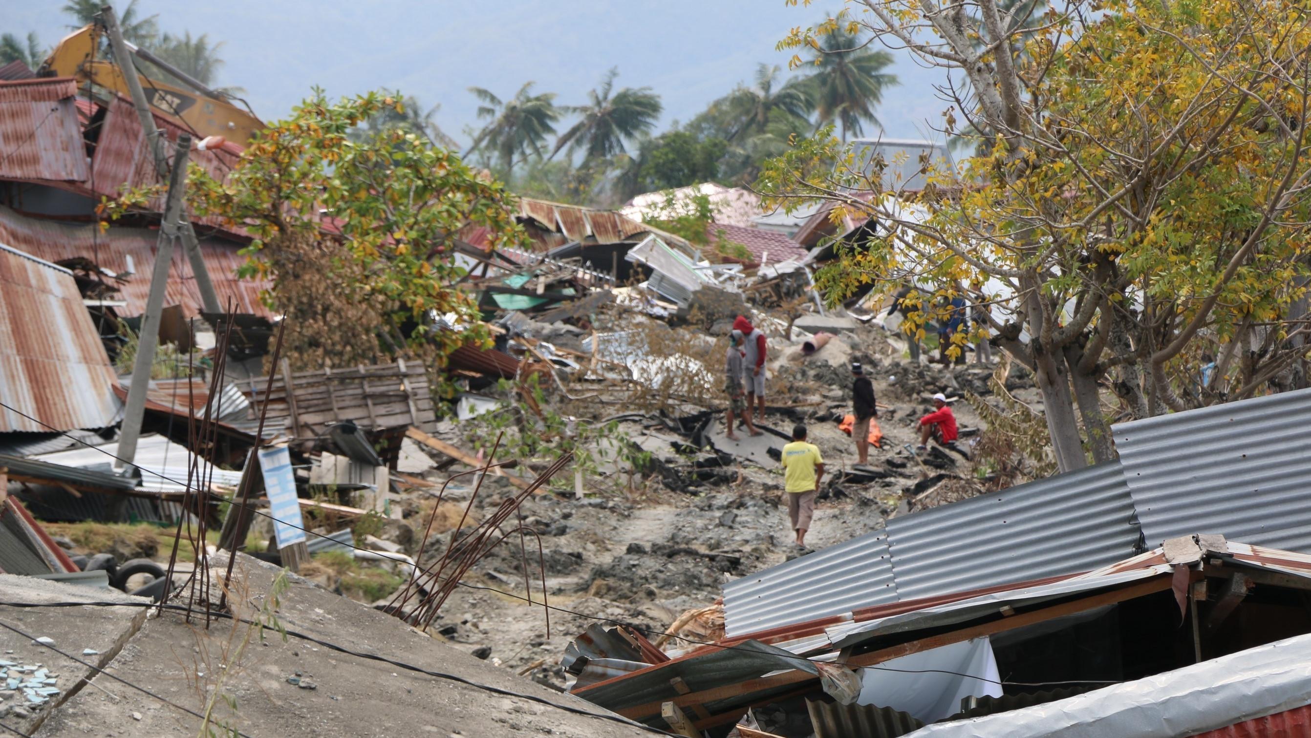 Zersörte Stadt Palu auf der Insel Sulwaesi in Indonesien