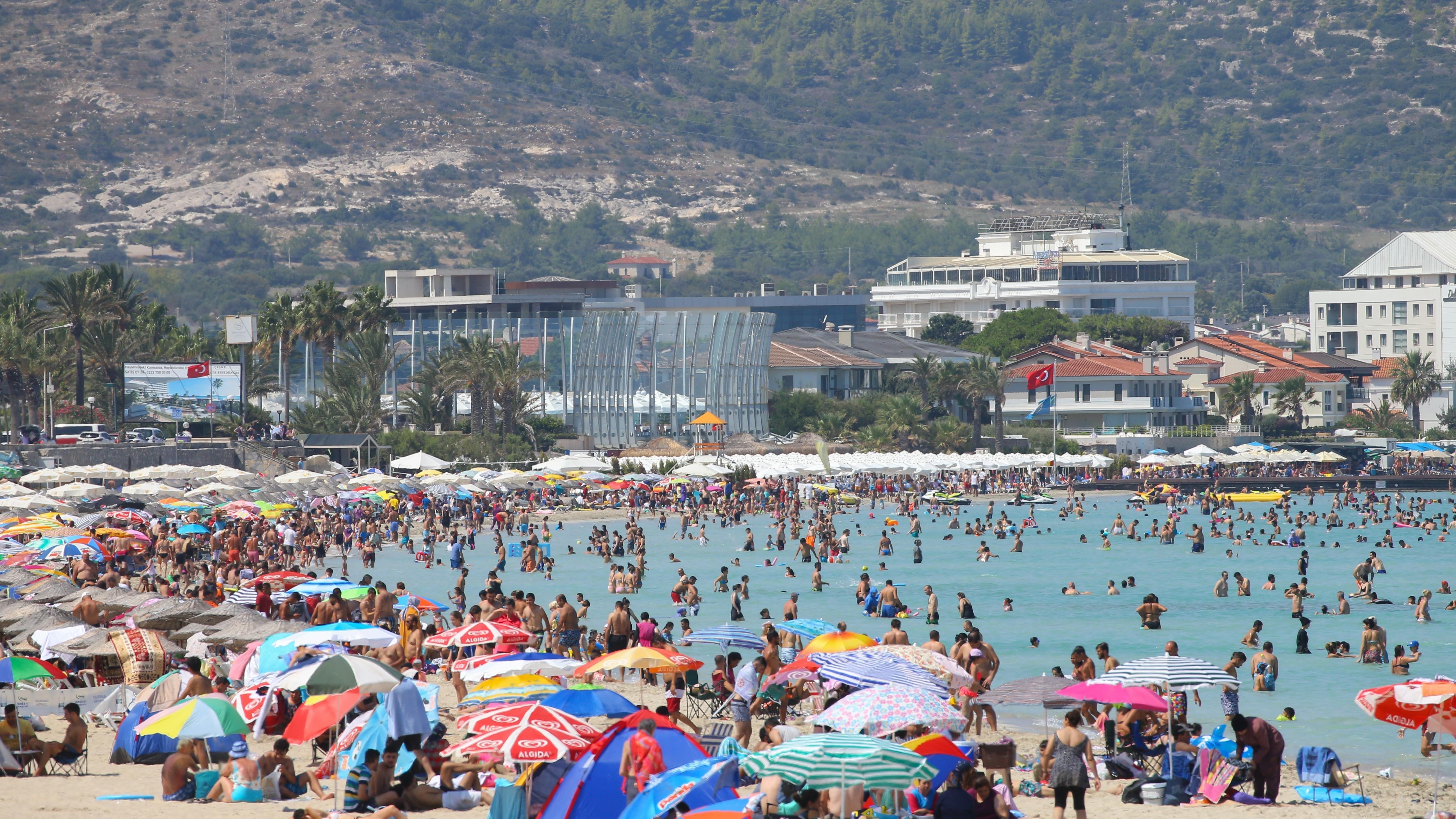 Der Strand von Izmir in der Türkei.