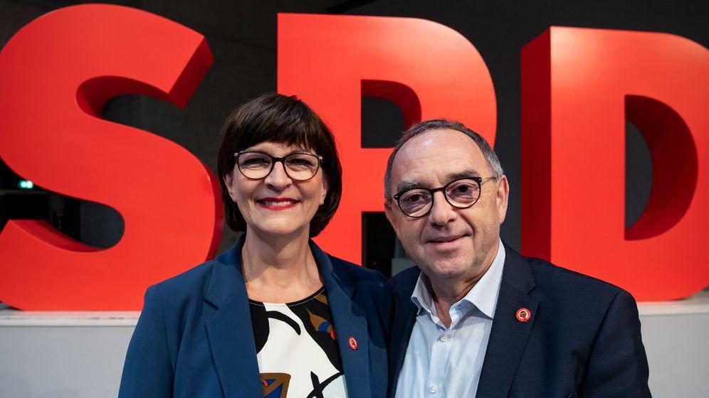 Saskia Esken und Norbert Walter-Borjans | Bild:dpa