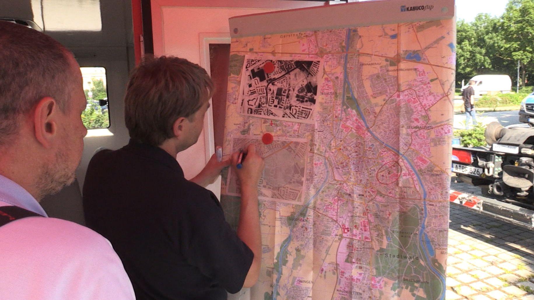 Vorbereitung für Evakuierung in Augsburg