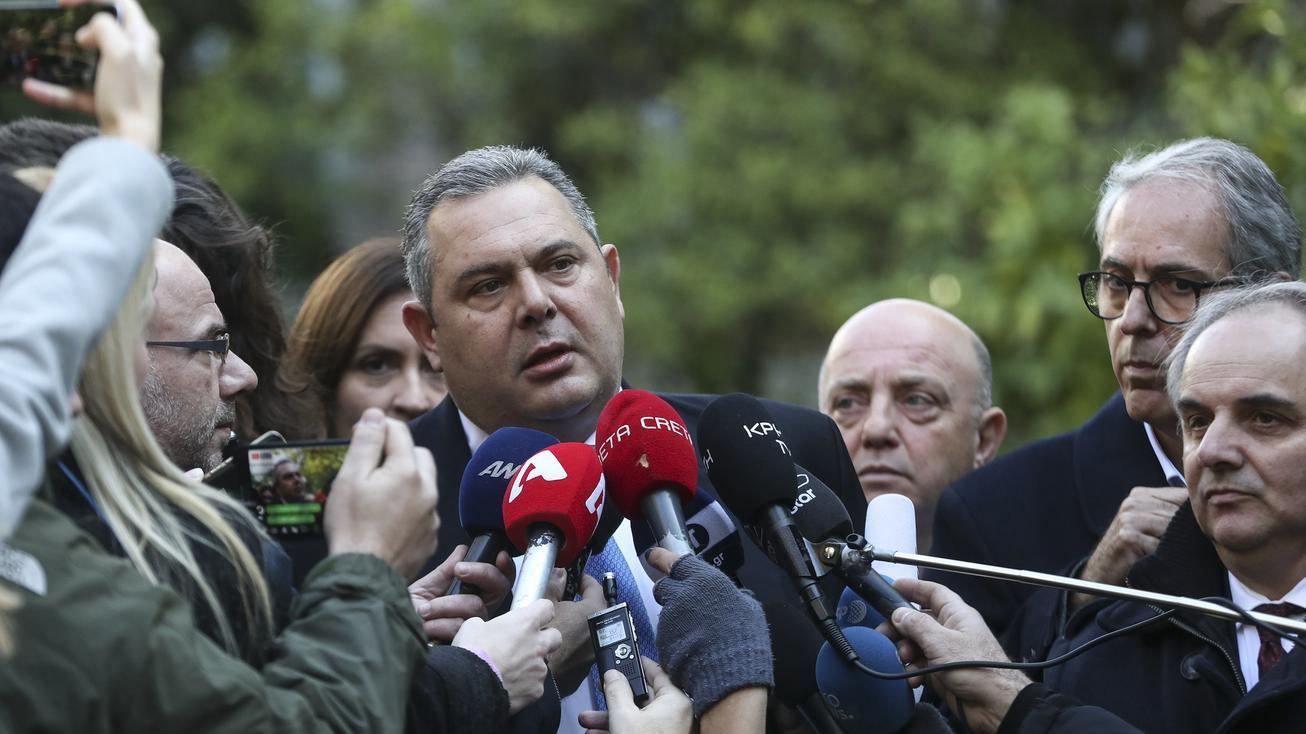 Panos Kammenos, Verteidigungsminister, tritt im Namensstreit um Mazedonien zurück