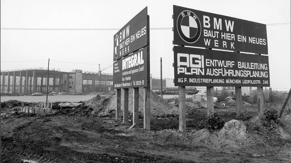 Die Baustelle im Jahr 1970: Heute ist Dingolfing das größte BMW-Werk in Europa.