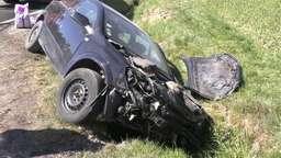 Der Pkw des mutmaßlichen Unfallverursachers   Bild:News5/Wellenhöfer