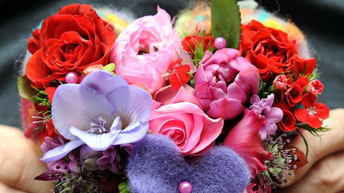 Valentinstag-Blumenstrauß