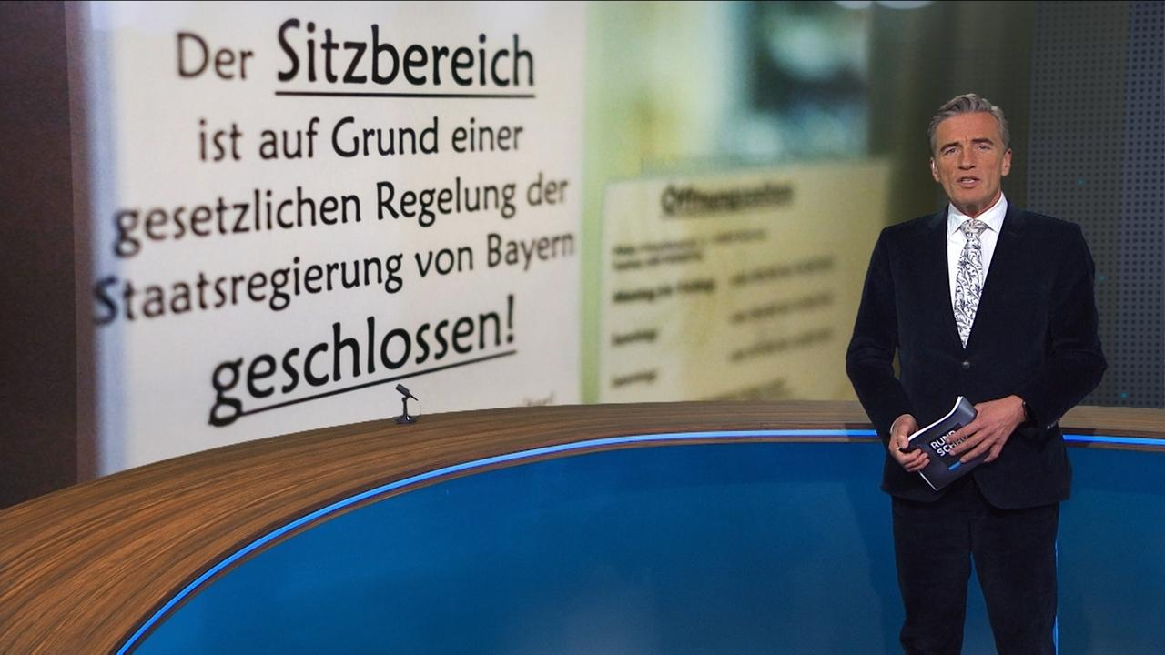 Moderator Stefan Scheider im Rundschau-Studio