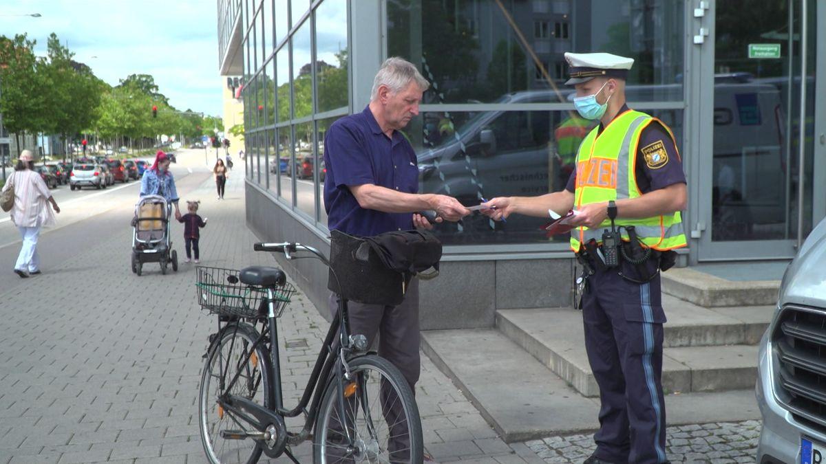 Fahrradkontrolle in Regensburg