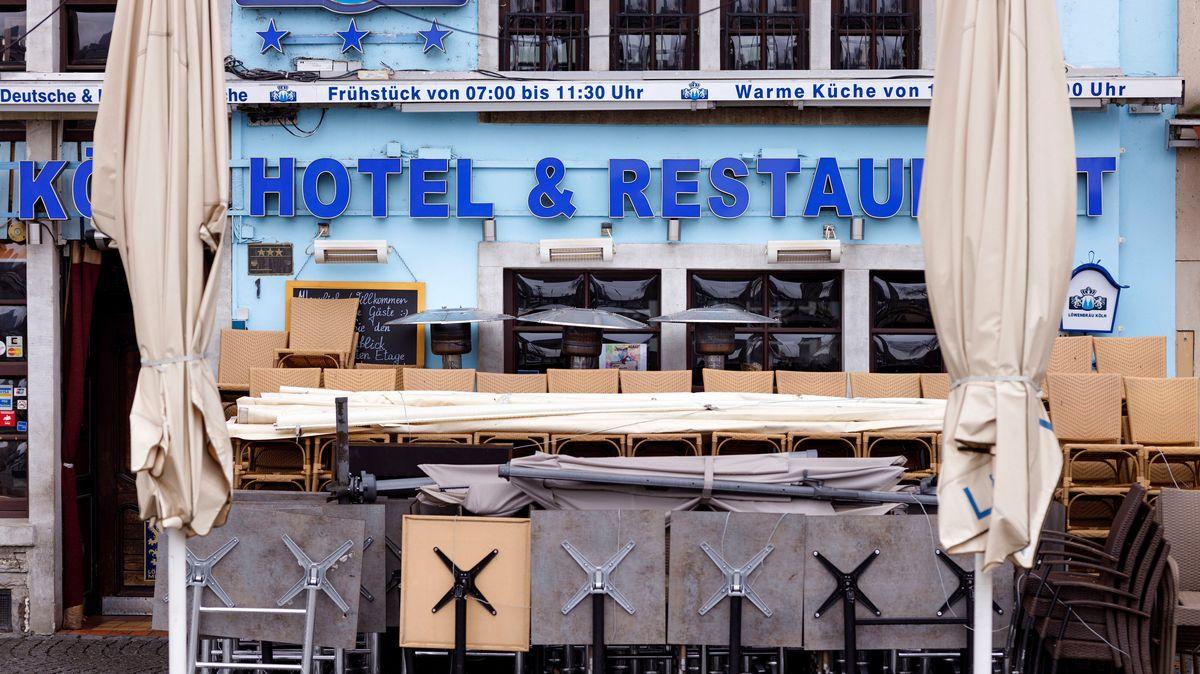 Geschlossenes Hotel in der Kölner Altstadt
